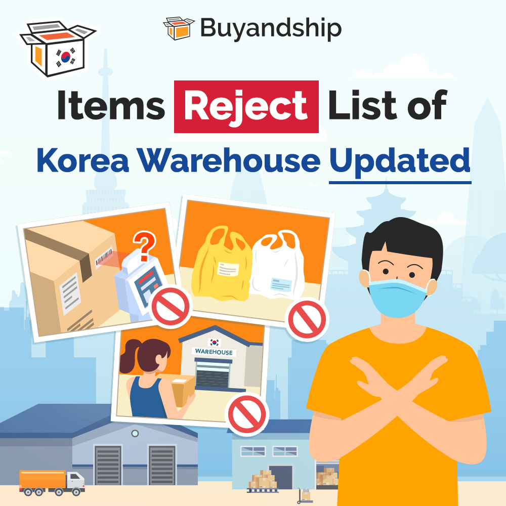 Korea warehouse rejects items